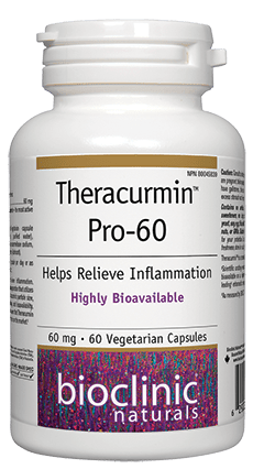 Theracurmin™ Pro-60 Helps Relieve Inflammation 60 Vegetarian Capsules ( SKU: 9248, NPN: 80045839 )
