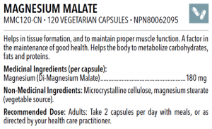 MAGNESIUM MALATE https://bodycrafters.ca/